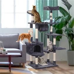 Cat Tree Tower Condo Furniture House Play & Scratching Post/