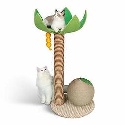 Cat Tree with Perch for Large Cats, Modern Coconut Tree Cat
