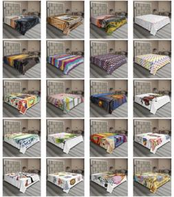 Ambesonne Colorful Natural Flat Sheet Top Sheet Decorative B