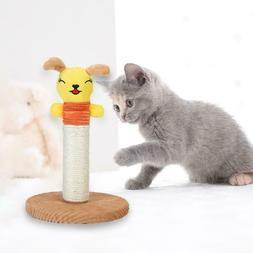 Cute Plush Animal Sisal Cats Scratch Board Cat Tree Tower wi