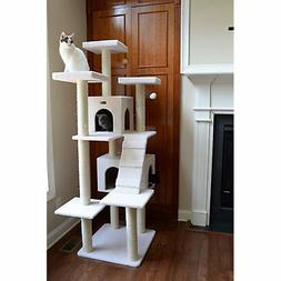 Armarkat 77 Inch Deluxe Cat Condo with Sisal Post
