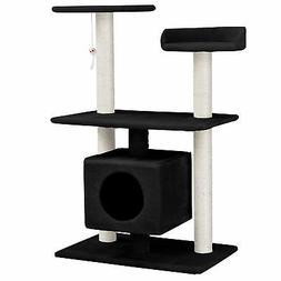 ® Scratching Post Tree Black Cat Kitten Sisal Small Height