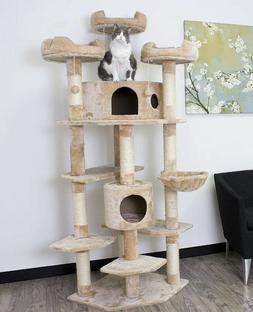 Extra Large Cat Tree Furniture Climbing Tower Condo Hammock