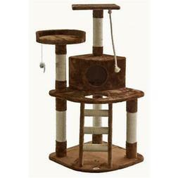 Go Pet Club F49 48 in. Brown Cat Tree Condo Furniture