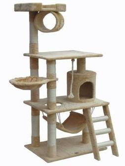 Go Pet CLub F67 62 in. Beige Cat Tree