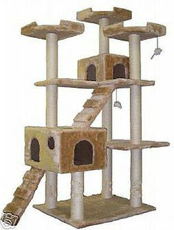 Go Pet Club Cat Tree 50W x 26L x 72 Blue Fun Entertaining Sa
