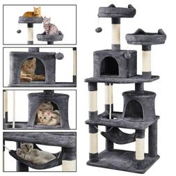 Gray 57in Cat Tree Condo Furniture with Extra-Large Scratchi