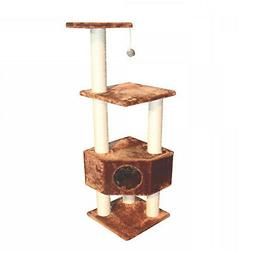 """Kitty Mansions Houston Brown Cat Tree, 51"""" H"""