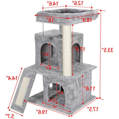 """34"""" STURDY Cat Tree Tower Activity Center Large Playing Hous"""