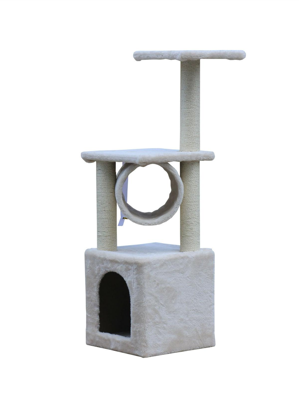 "36"" Cat Furniture Scratching Condo Kitten Toys"