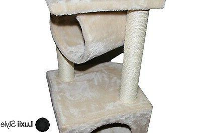 Plush Scratching Post with Box & Roost Kitten