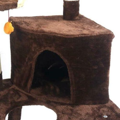 """48"""" Brown Tree Tower Condo Bed Toy"""