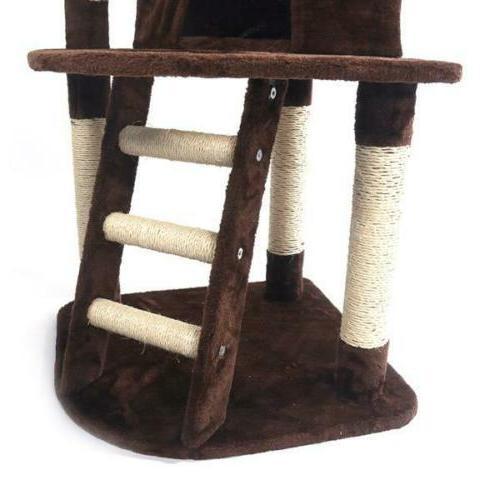 "48"" Pet Cat Tree Play House Condo Toy"
