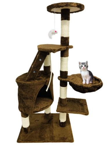 "48""Cat Tree Tower Condo Furniture Kitten House Hammock Cat S"