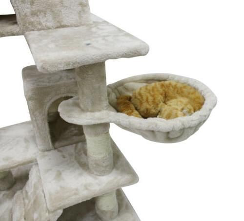 51 Cat Pet Tower Kitty House,White