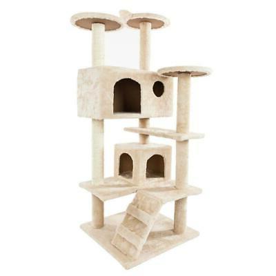 "52"" Best Pet Cat Tree Tower Condo Furniture Scratch Post Kit"