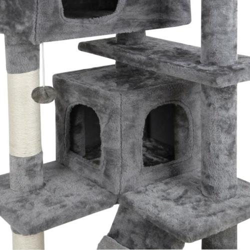 """53"""" STURDY Cat Tower Large Playing House Rest"""