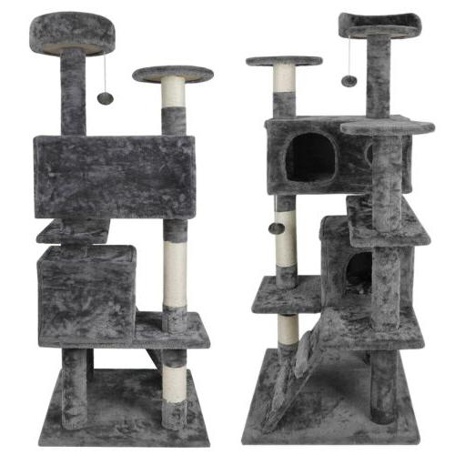 """53"""" STURDY Cat Tower Activity Center Playing Condo Rest"""