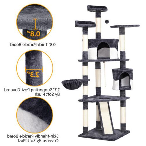 """79"""" Tower Pet House(Gray and"""