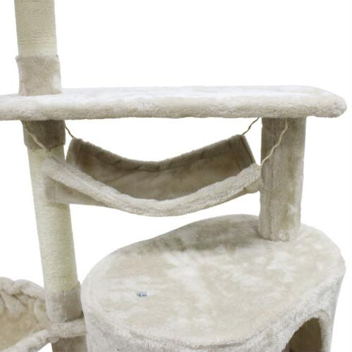 """56"""" Cat Tree Scratching Pet Tower House"""