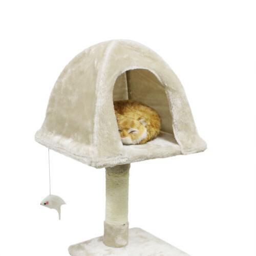 "56"" Cat Tree Pet Play House"