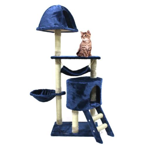 """56"""" Cat Tree Scratching Condo Post Pet Tower House"""
