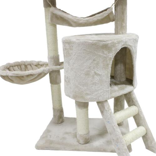 """56"""" Tree Scratching Pet Tower Kitty House"""