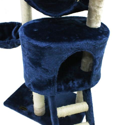 """56"""" Cat Tree Scratching Pet Kitty Play House"""