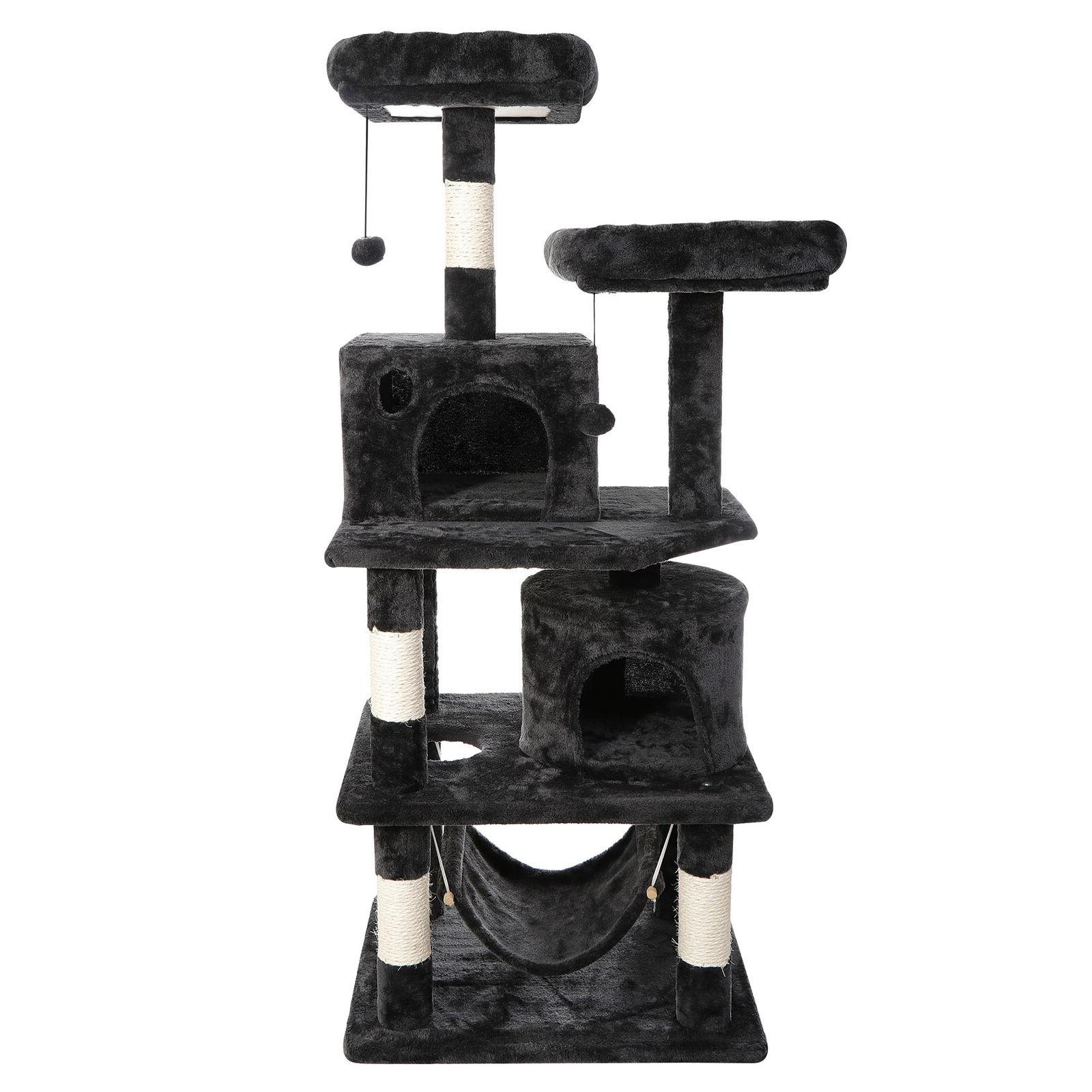 """57"""" Cat Tree Condo Pet Bed Activity Tower Play Together with"""