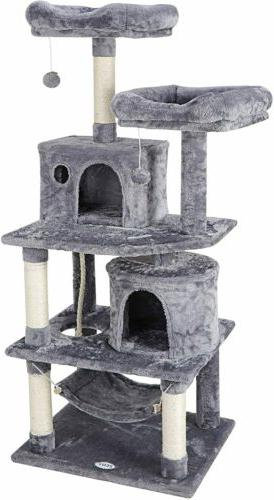 """57"""" Cat Tree Tower Activity Center Large Playing Condo Scrat"""