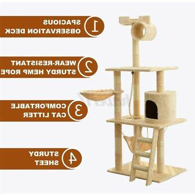 62In Cat Tree Scratching House Gift