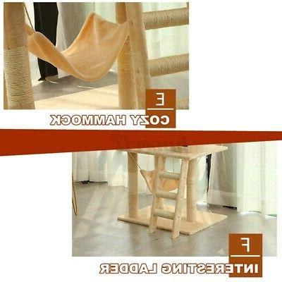 62In Cat Tree Scratching House Pet Tower