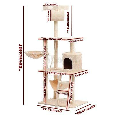 62In Cat Tree Scratching Tower Gift