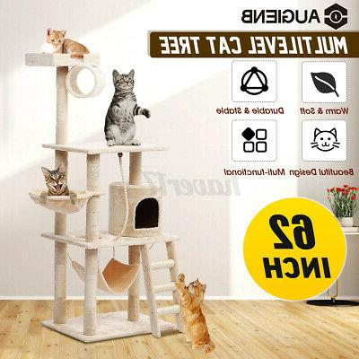 62in cat tree condo scratching house pet