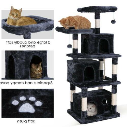 67 cat tree soft plush perch kitten