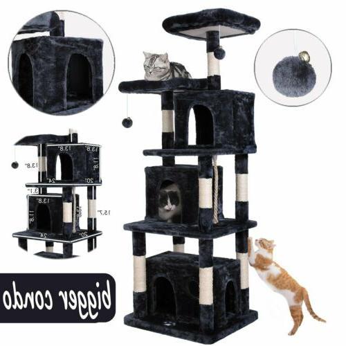 67 dark gray pet cat tree play