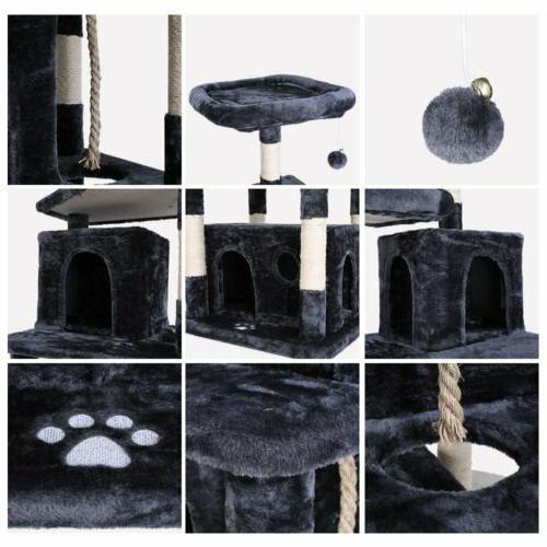67'' Cat Plush Perch Kitten Furniture Condo Ball Play Toy