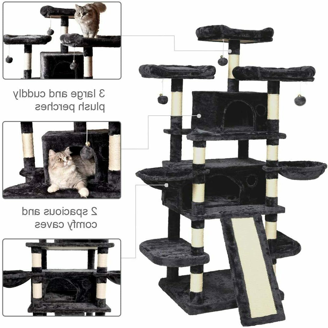 68 Inch Multi Cat King X Large Size Cat with Perches