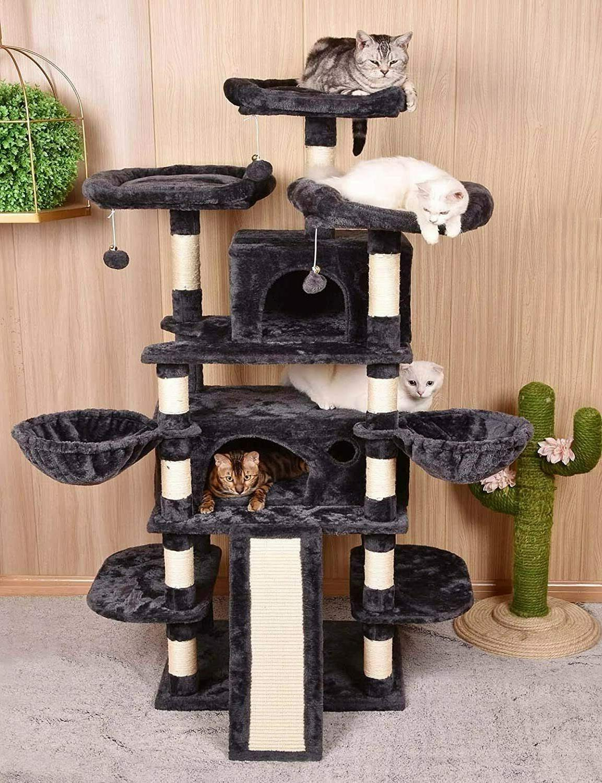 68 inch multi level cat tree king