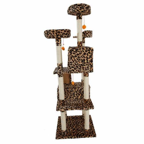 "72"" Inch Cat Tower Condo Scratching Climb Holder"