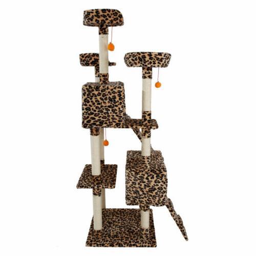 "72"" Cat Tree Tower Scratching Climb"