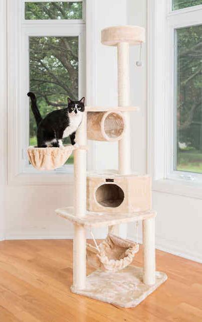 72 multi cat tree condo bed house