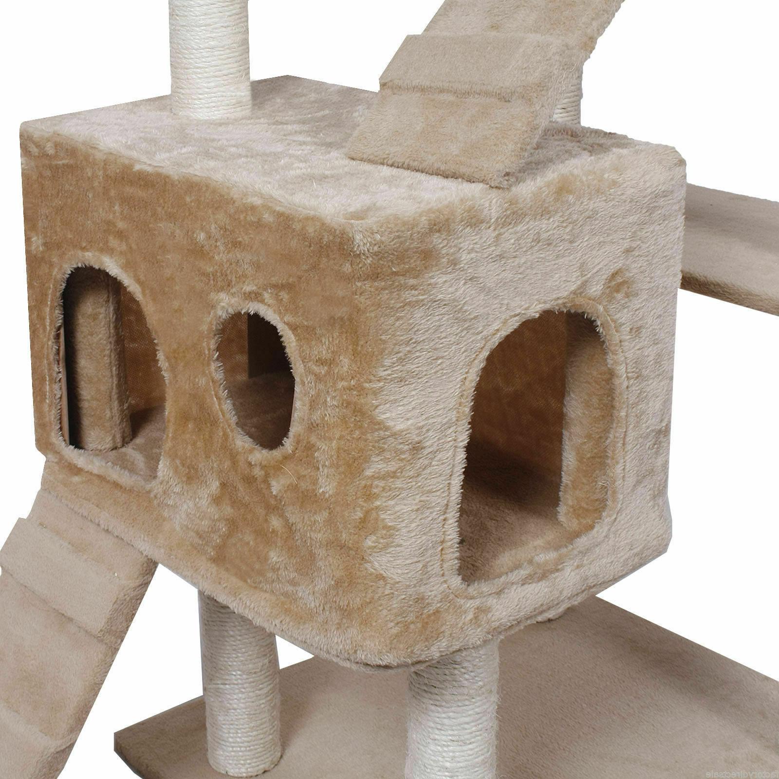 Tower Condo Post Pet Beige Goplus Cat Kitty