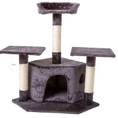 """80"""" Tree Condo Post Pet Kitty House"""