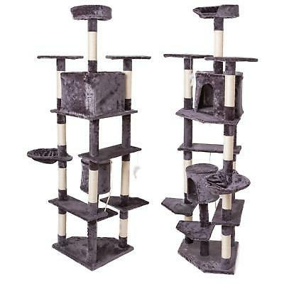 """80"""" Post Cat Tree House Playing Climbing Furniture"""