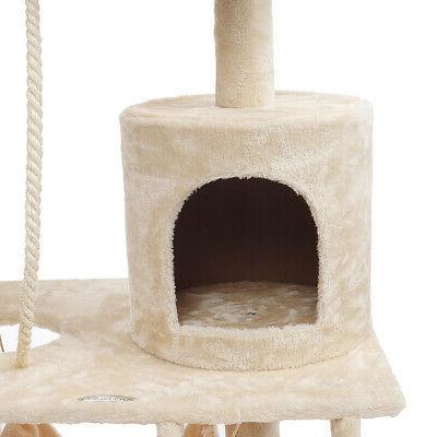 Aug Tree Condo Scratching Pet Climbing Tower Rats Beige
