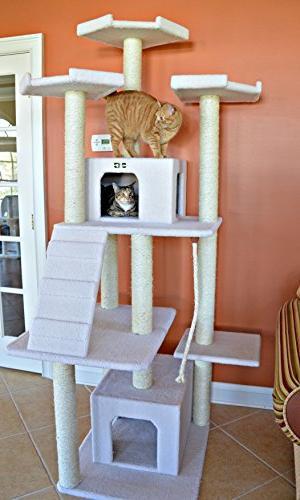 Armarkat Classic Cat Tree Model, Ivory