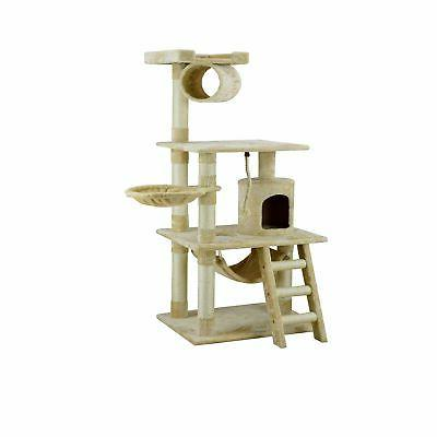"""Go Pet Beige 62"""" Cat Tree with and Basket"""