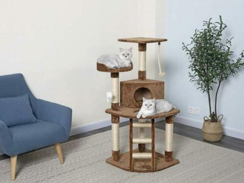 cat tree 47 5 inch brown 47