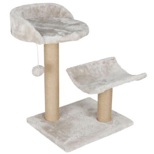 Cat Tree with Platform Bed Scratching Posts Pets Play Relax